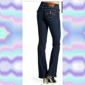 NWOT TRUE RELIGION BECCA MID RISE BOOTCUT JEANS-26